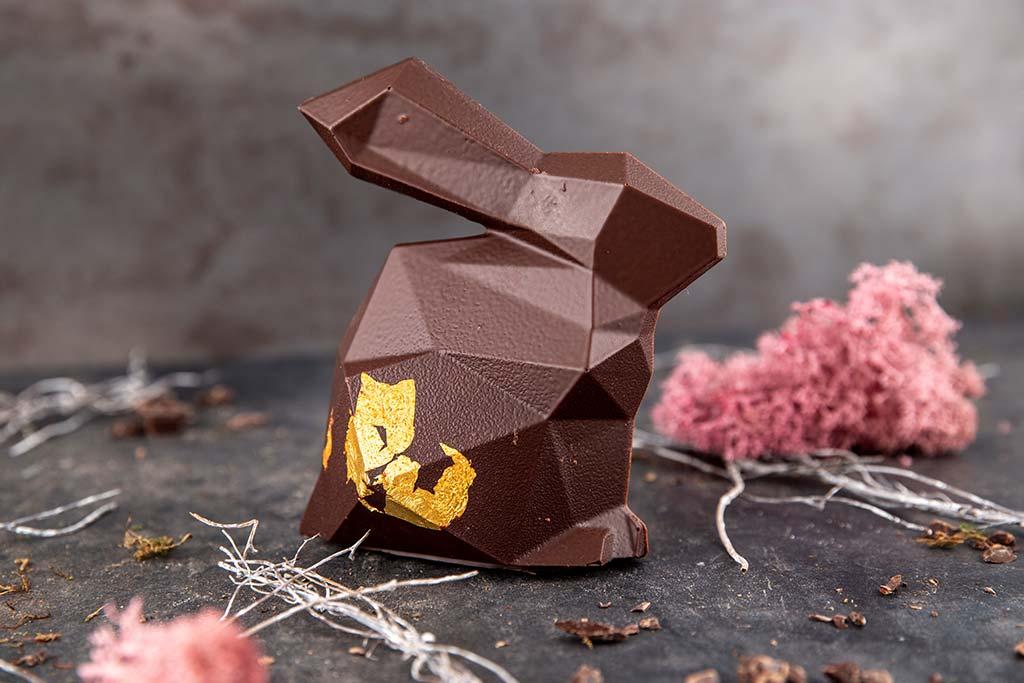 Designer-Hase mit Blattgold